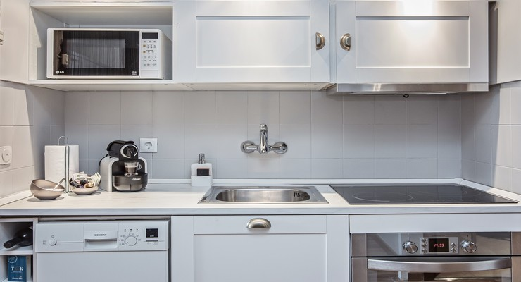 All necessary appliances in this charming kitchen
