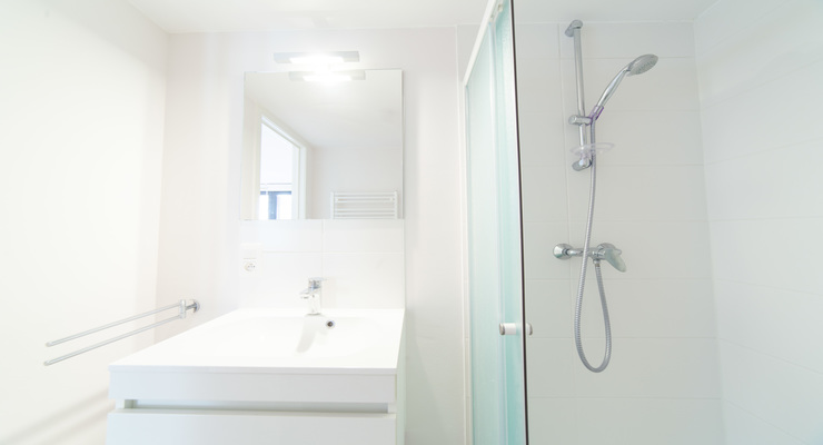 Bathroom with a comfortable shower