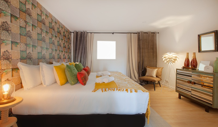 Luxury bedroom with a spacious double bed.